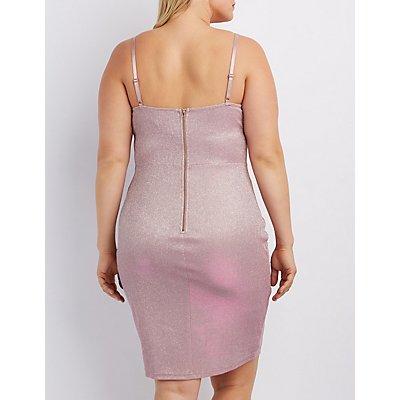 Plus Size Shimmer Bodycon Dress