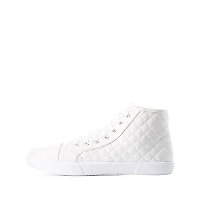 Qupid Quilted High-Top Sneakers
