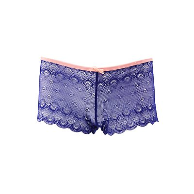 Plus Size Lace Boyshort Panties