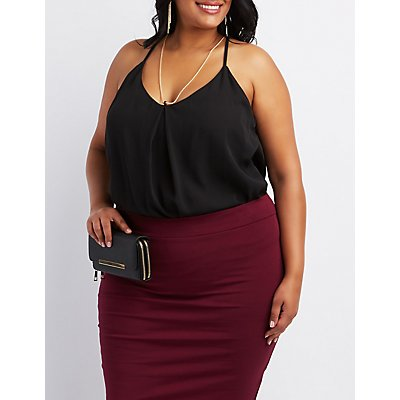 Plus Size Chain-Neck Tank Top