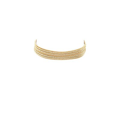 Chainlink & Rhinestone Choker Necklace