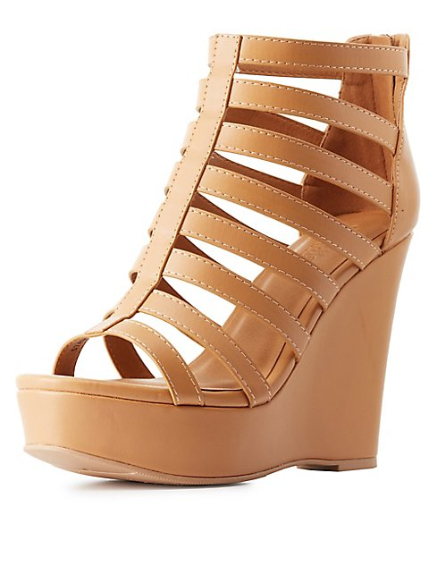 f0c0c1e165a Strappy Wedge Sandals  Strappy Wedge Sandals