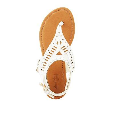 Laser Cut Thong Sandals