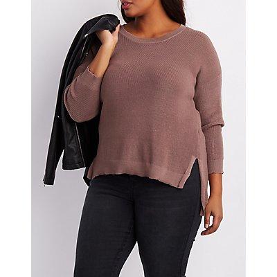 Plus Size Oversized Crew Neck Sweater