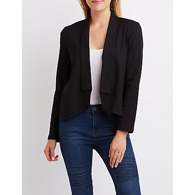 Shawl Lapel Open Blazer