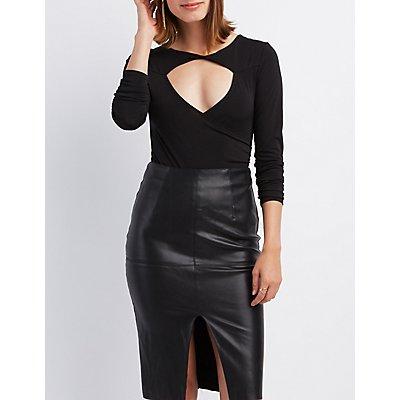 Looped Cut-Out Bodysuit