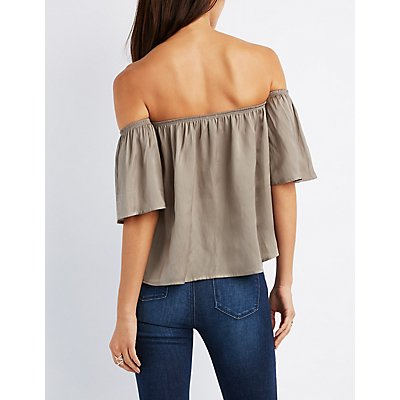 Silky Off-The-Shoulder Top