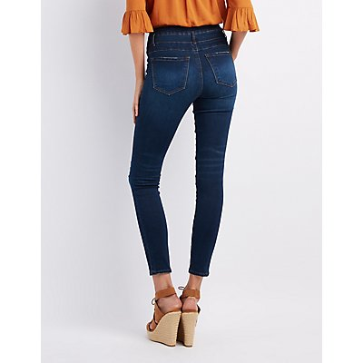 Refuge Hi-Waist Skinny Destroyed Jeans