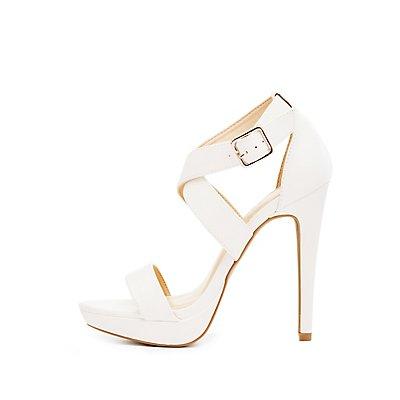 Three-Piece Crisscross Dress Sandals