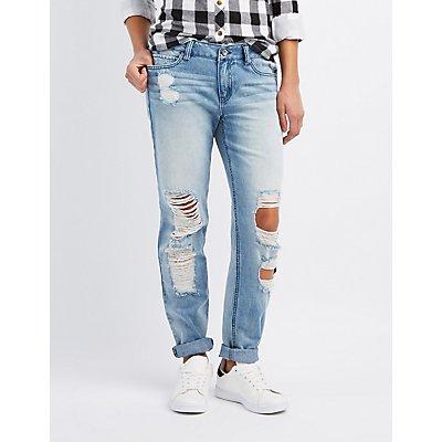 Destroyed Boyfriend Jeans