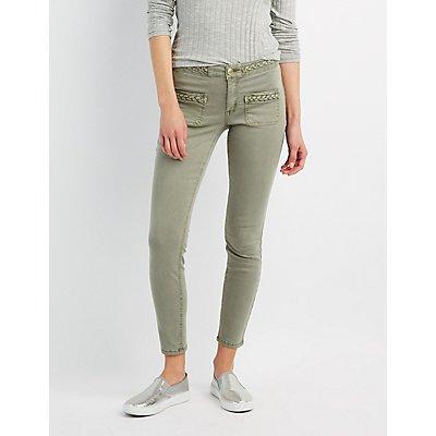 Refuge Braided Skinny Jeans