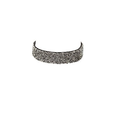 Beaded Stud Choker Necklace