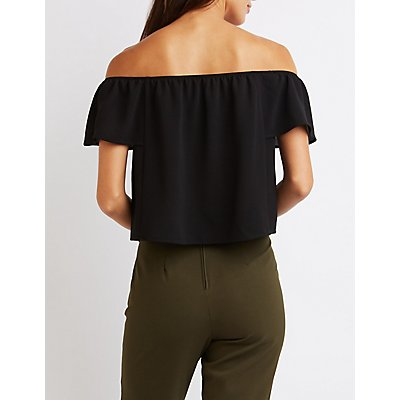 Textured Off-The-Shoulder Top