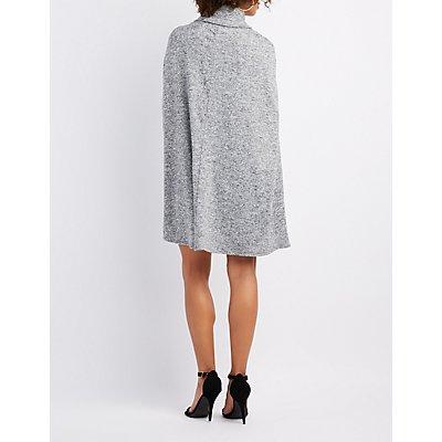 Marled Cape Bodycon Dress
