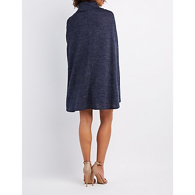 Marled Cape Bodycon Dress