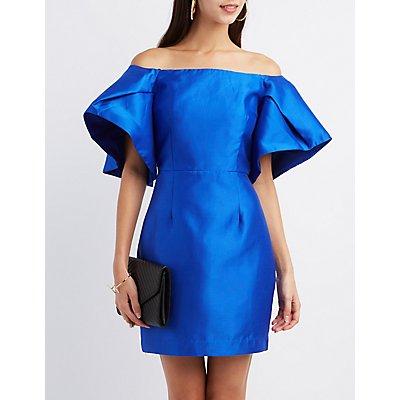 Off-The-Shoulder Sheath Dress