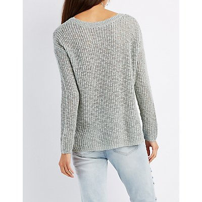 Slub Knit Pullover Top