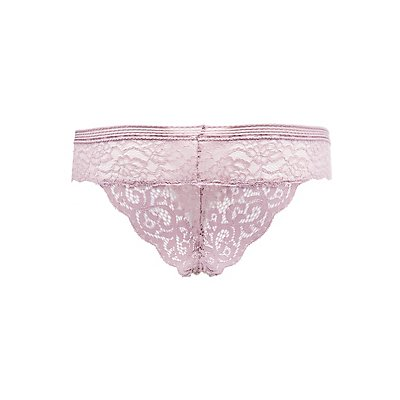 Mixed Lace Cheeky Panties