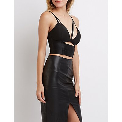 Strappy Caged Bustier Crop Top