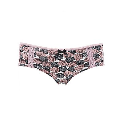 Rose Print Hipster Panties