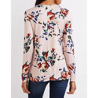 Floral Strappy Caged Top