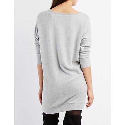 Brushed Marled Sweater Dress