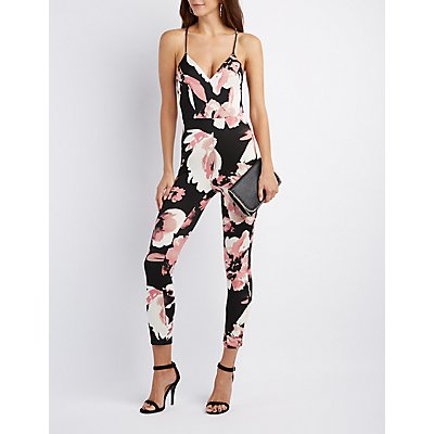 Floral Strappy Jumpsuit