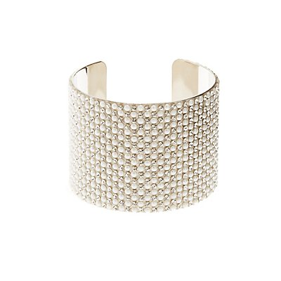 Pearl Bead Cuff Bracelet