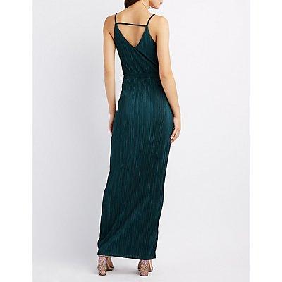 Micro Pleated Maxi Dress