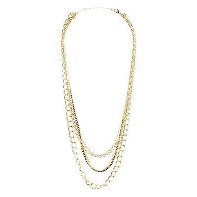 Plus Size Mixed Chainlink Necklace
