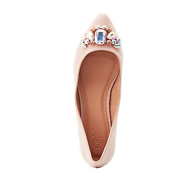 Embellished Pointed Toe Flats