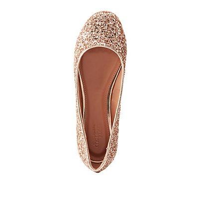 Glittery Ballet Flats