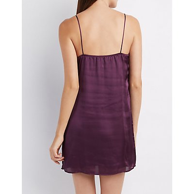 Satin Strappy Slip Dress