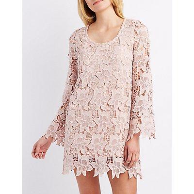 Floral Crochet Shift Dress