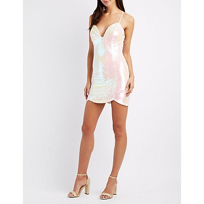 Sequin Strappy Bodycon Dress