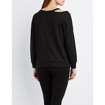 Sunday Mode Cut-Out Sweatshirt
