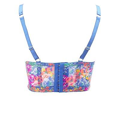 Plus Size Floral Lace Bra
