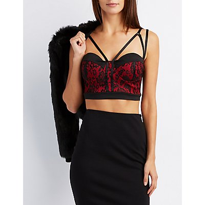 Caged Lace Bustier Crop Top