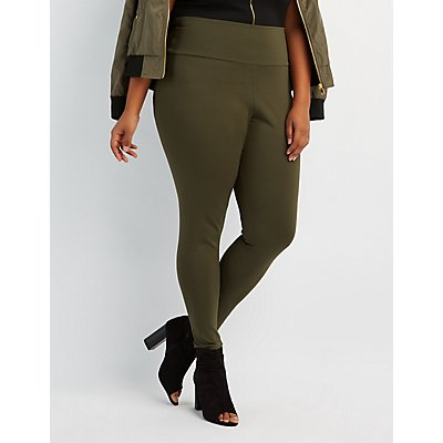 Plus Size High-Rise Ponte Knit Leggings