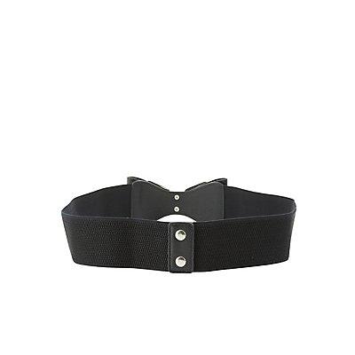 Plus Size Elastic Bow Belt