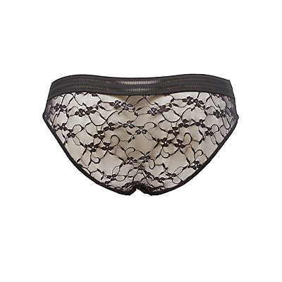 Plus Size Floral Lace Hipster Panties