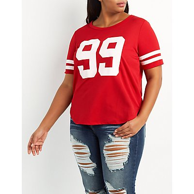 Plus Size 99 Football Jersey Tee