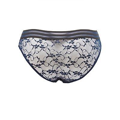 Plus Size Floral Lace Hipster Panties