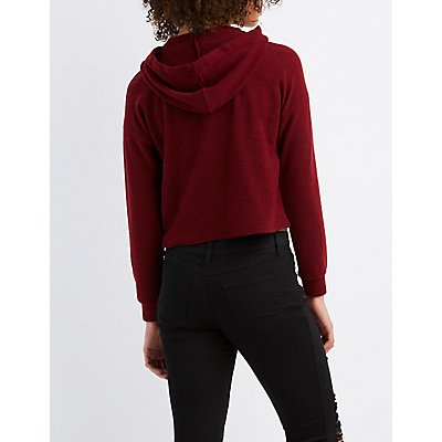 Hacci Cropped Hoodie