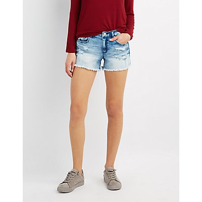 Refuge Girlfriend Cut-Off Denim Shorts