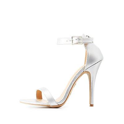Metallic Two-Piece Sandals