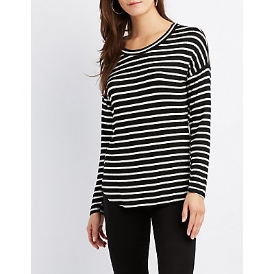Striped Drop Shoulder Top