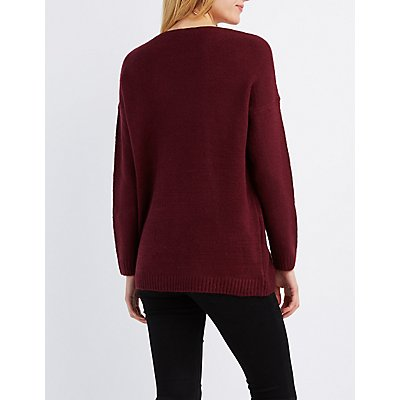 Brushed V-Neck Sweater