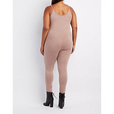 Plus Size Bodycon Jumpsuit