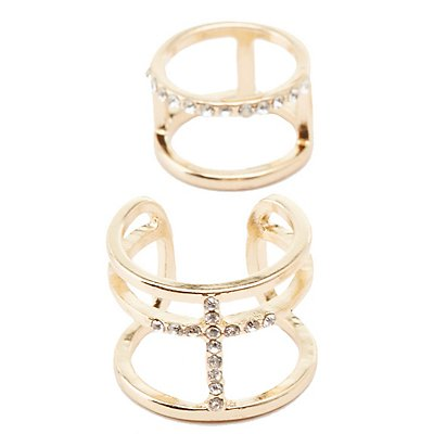 Embellished Caged Rings - 9 Pack